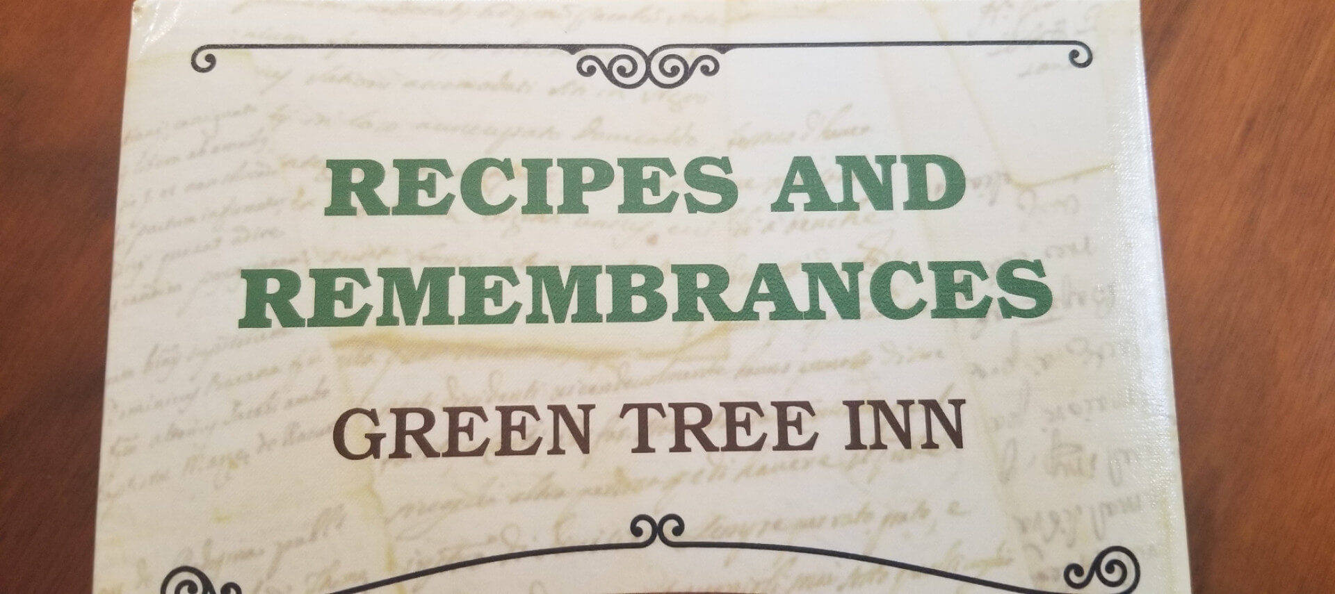 Cookbook Title Text Recipes and Remembrances Green Tree Inn